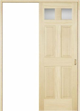 木製室内ドア 引き戸枠セット-パイン- SL-PD-266