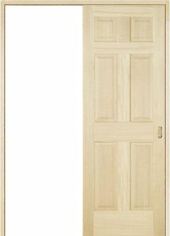 木製室内ドア 引き戸枠セット-パイン- SL-PD-66