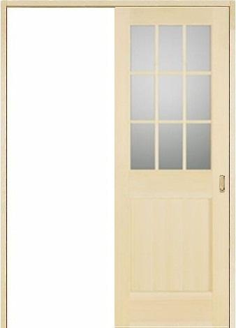 お買い得セット(ドア、枠、金物セット)木製室内ドア 引き戸枠セット-パイン- SL-PM-9L22