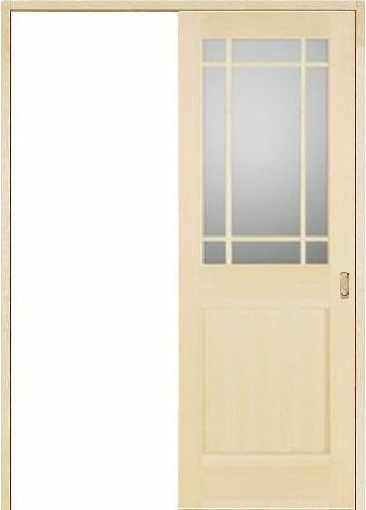 お買い得セット(ドア、枠、金物セット)木製室内ドア 引き戸枠セット-パイン- SL-PM-9SL22