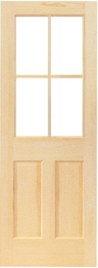 木製室内ドア -クリアパインドア-/アートガラス HS-4L44