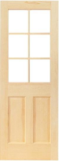木製室内ドア -クリアパインドア-/アートガラス HS-6L44