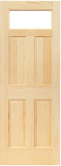 木製室内ドア -クリアパインドア-/アートガラス PD-1S66
