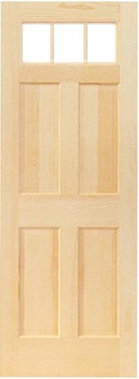 木製室内ドア -クリアパインドア-/アートガラス PD-3S66