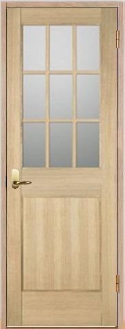 木製室内ドア 開き戸枠セット-アッシュ-/ガラスタイプ SW-AM-9L22