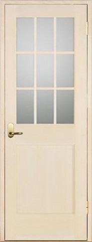 木製室内ドア 開き戸枠セット-バーチ-/ガラスタイプ SW-BM-9L22