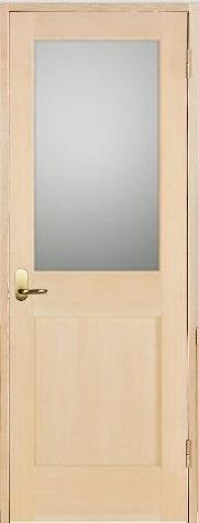 木製室内ドア 開き戸枠セット-ヘムロック-/ガラスタイプ SW-HM-1L22