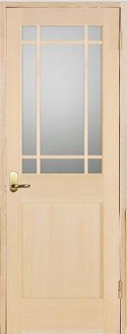 お買い得セット(ドア、枠、金物セット)木製室内ドア 開き戸枠セット-ヘムロック(米栂)ドア-/ガラスタイプ SW-HM-9SL22