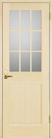お買い得セット(ドア、枠、金物セット)木製室内ドア 開き戸セット-パインドア-/ガラスタイプ SW-PM-9L22