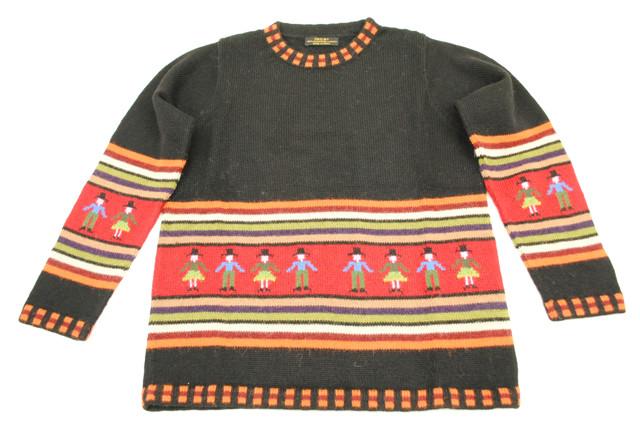 スーパーファインアルパカ100%手編みセーター(スーパーファイン品質)[SW-048]