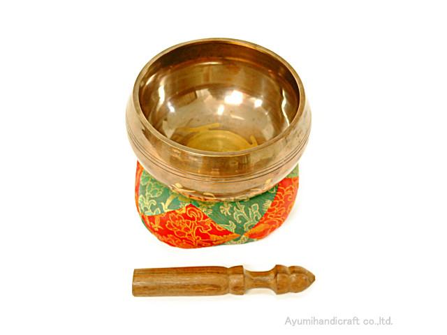 チベット密教法具シンギングボウル・ドニパトロ(bw006・口径約16cm 高さ約8cm)