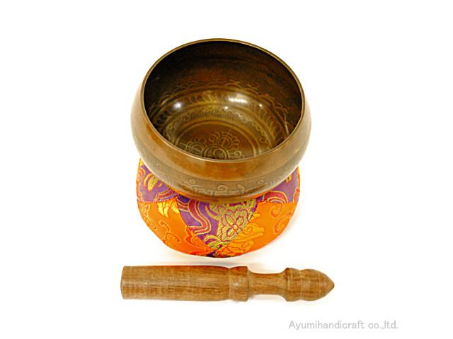 チベット密教法具シンギングボウル・ドニパトロ(bw011・口径約13.5cm 高さ約7cm)