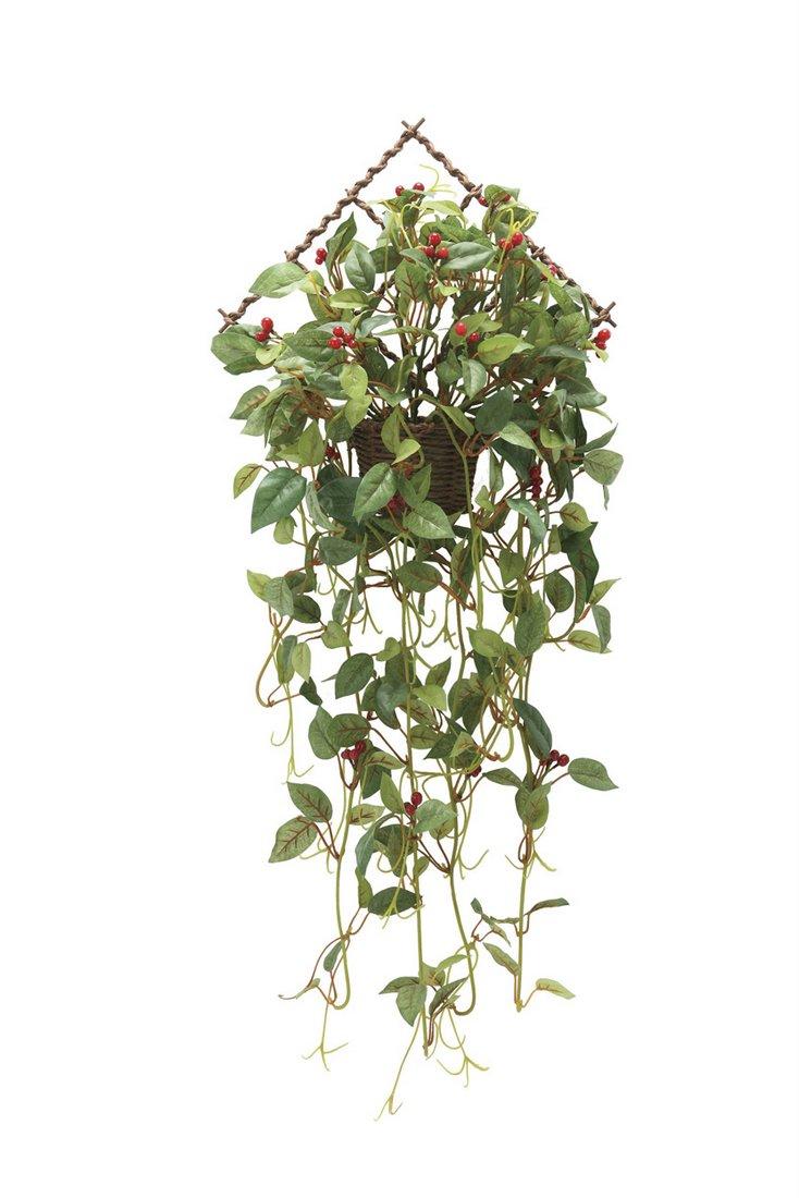 期間限定今なら送料無料 新築祝い 開店祝い 誕生日などのギフトに光触媒観葉植物はいかが? 玄関やリビングのインテリアにお手入れいらず 光触媒加工の造花 アートフラワー アートグリーン 壁掛けローレル実付〔壁掛けタイプ〕 光触媒 観葉植物 フェイクグリーン 開業祝い 胡蝶蘭 飾る 巣ごもり おしゃれ 造花 LLサイズ 花 アートフレーム 誕生祝い