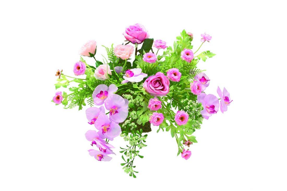 アートフラワー 造花 クリスティピンク〔壁掛けタイプ〕/光触媒 観葉植物 フェイクグリーン 花 胡蝶蘭 開店祝い 開業祝い 誕生祝い 造花 アートフレーム おしゃれ 飾る 3Lサイズ 巣ごもり