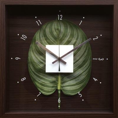 時計 デザイン クロック リーフ カトレア/掛け時計 置き時計 ウォールクロック インテリア 壁掛け 時刻 ギフト プレゼント 新築祝い おしゃれ 飾る かわいい アート Mサイズ 巣ごもり