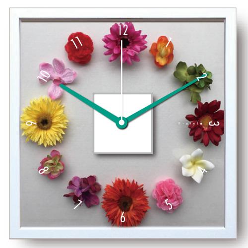 時計 壁掛け デザイン クロック はなとけい/掛け時計 置き時計 ウォールクロック インテリア 壁掛け 時刻 ギフト プレゼント 新築祝い おしゃれ 飾る かわいい アート Mサイズ