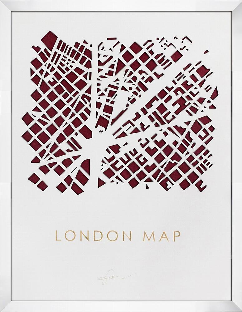 アートフレーム 3Dマップアート ロンドン (3D MAP ART LONDON)/額入り 絵画 絵 壁掛け アート リビング 玄関 トイレ インテリア かわいい 壁飾り 癒やし プレゼント ギフト アートパネル ポスター アートフレーム おしゃれ 5Lサイズ