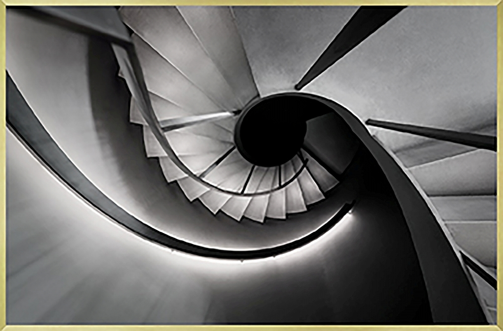 アートフレーム クラシック モノトーン フォトグラフィー 螺旋階段2/額入り 絵画 絵 壁掛け アート リビング 玄関 トイレ インテリア かわいい 壁飾り 癒やし プレゼント ギフト アートパネル ポスター アートフレーム おしゃれ 3Lサイズ