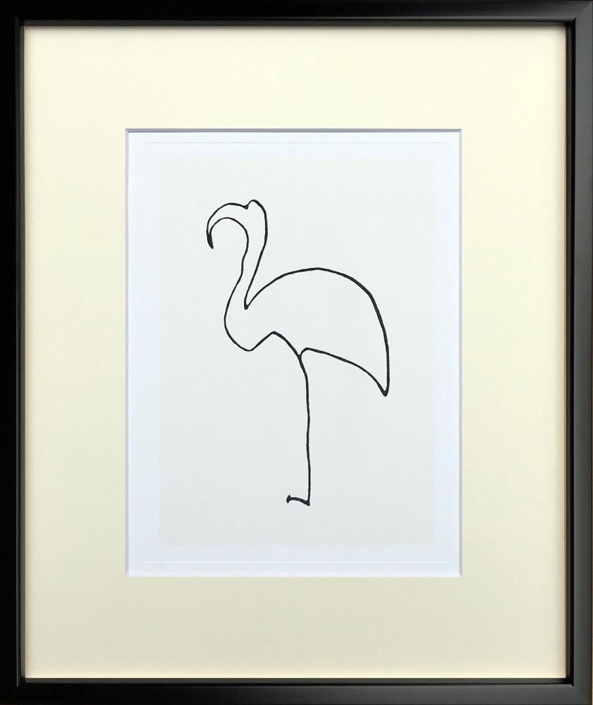 ipp-14396 壁掛け (Silkscreen) 絵画 おしゃれ アートフレーム パブロ・ピカソ Pablo Picasso Le flamand rose