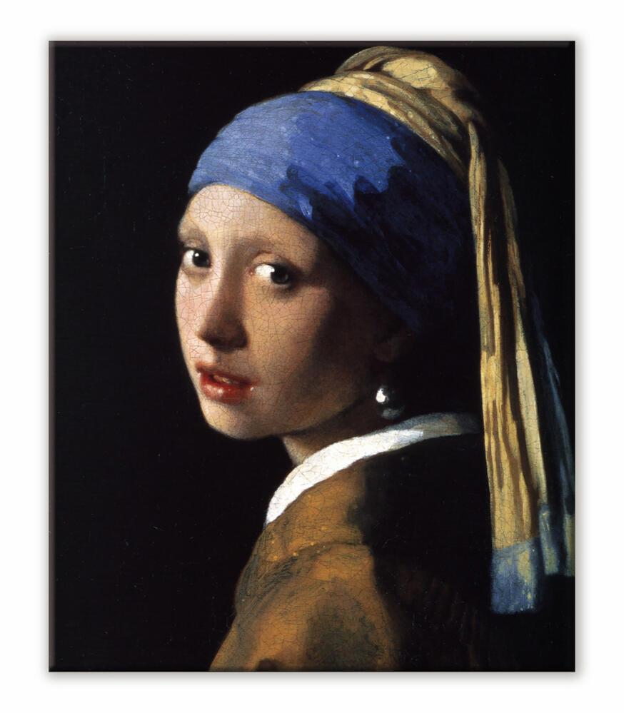 真珠の耳飾りの少女 建築用壁紙 青いターバンの少女 壁紙ポスター