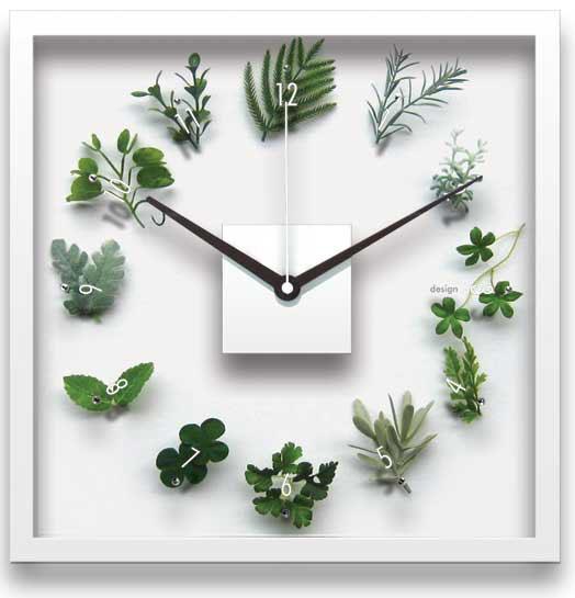 時計 壁掛け デザイン クロック くさとけい/掛け時計 置き時計 ウォールクロック インテリア 壁掛け 時刻 ギフト プレゼント 新築祝い おしゃれ 飾る かわいい アート Mサイズ