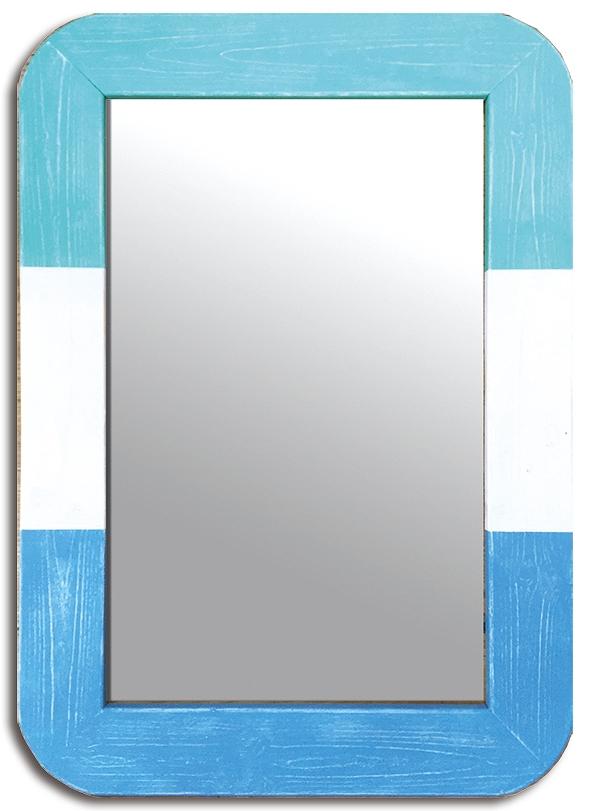 ミラー Surf Mirror Blue(サーフ ミラー ブルー)/インテリア 壁掛け 額入り 油絵 ポスター アート アートパネル リビング 玄関 プレゼント モダン アートフレーム おしゃれ LLサイズ