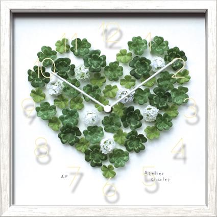 時計 Artist Clock Atelier Charles/掛け時計 置き時計 ウォールクロック インテリア 壁掛け 時刻 ギフト プレゼント 新築祝い おしゃれ 飾る かわいい アート Sサイズ 巣ごもり