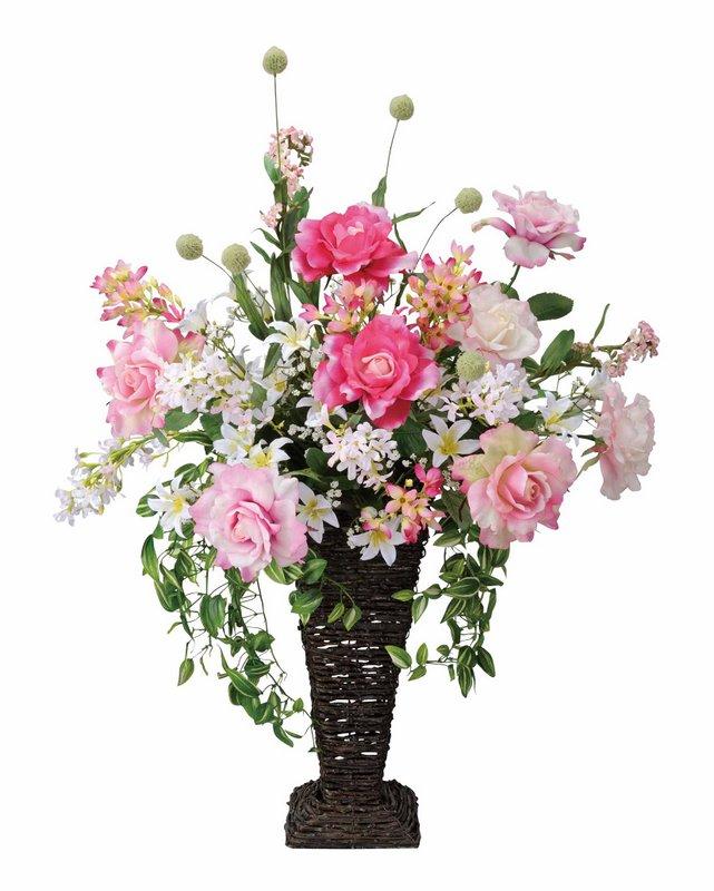 アートフラワー 造花 リアルローズ/光触媒〔フロアタイプ〕/光触媒 観葉植物 ウンベラータ フェイクグリーン 花 胡蝶蘭 開店祝い 開業祝い 誕生祝い 造花 アートフレーム おしゃれ 飾る 5Lサイズ 巣ごもり