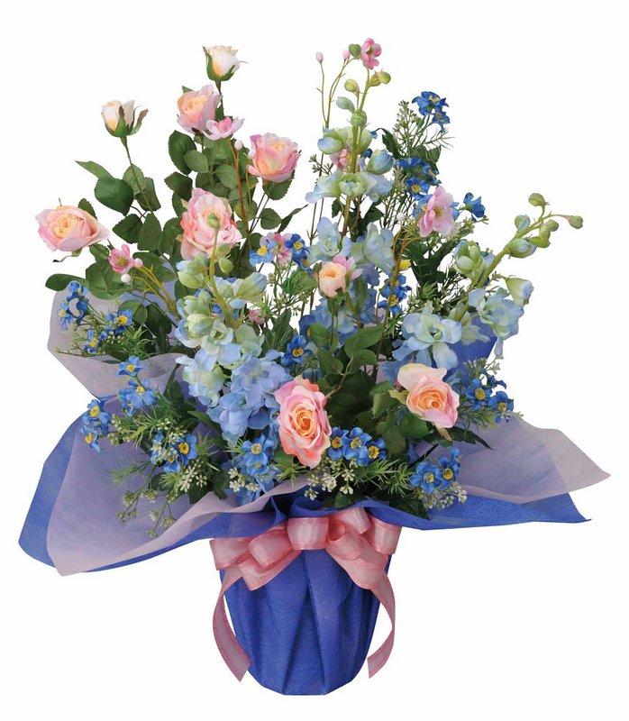 アートフラワー 造花 ブルーリバー/光触媒〔テーブルタイプ〕/光触媒 観葉植物 ウンベラータ フェイクグリーン 花 胡蝶蘭 開店祝い 開業祝い 誕生祝い 造花 アートフレーム おしゃれ 飾る 4Lサイズ 巣ごもり