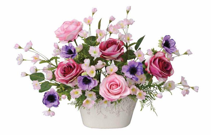 アートフラワー 造花 ローズベール/光触媒〔テーブルタイプ〕/光触媒 観葉植物 ウンベラータ フェイクグリーン 花 胡蝶蘭 開店祝い 開業祝い 誕生祝い 造花 アートフレーム おしゃれ 飾る 3Lサイズ 巣ごもり