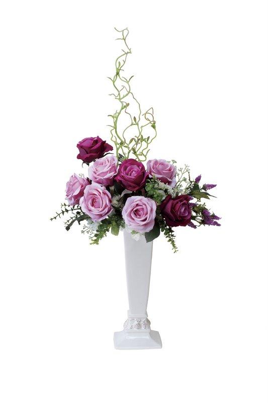 アートフラワー 造花 ロワイヤル/光触媒〔テーブルタイプ〕/光触媒 観葉植物 ウンベラータ フェイクグリーン 花 胡蝶蘭 開店祝い 開業祝い 誕生祝い 造花 アートフレーム おしゃれ 飾る 5Lサイズ 巣ごもり