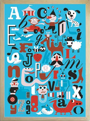 アートフレーム Ingela P Arrhenius /Alphabet A-O/インテリア 壁掛け 額入り 額装込 風景画 油絵 ポスター アート アートパネル リビング 玄関 プレゼント モダン アートフレーム おしゃれ 飾るL