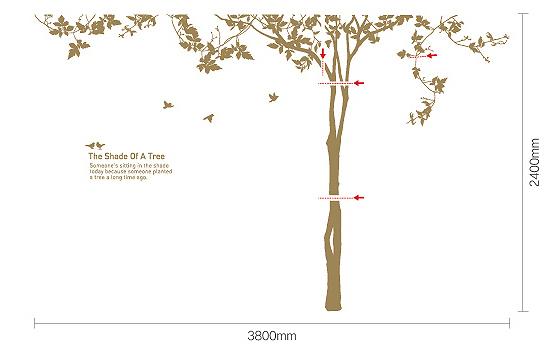 ウォールステッカー Shade of a tree Latte/Brown/インテリア 壁掛け 額入り 額装込 風景画 油絵 ポスター アート アートパネル リビング 玄関 プレゼント モダン アートフレーム おしゃれ 飾る 5Lサイズ 巣ごもり