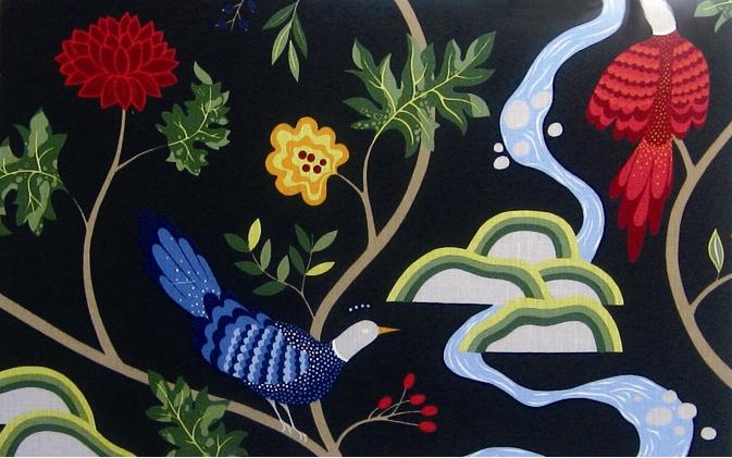 ファブリック アートパネル boras Birdland BK-L/インテリア 壁掛け 額入り 額装込 風景画 油絵 ポスター アート アートパネル リビング 玄関 プレゼント モダン アートフレーム おしゃれ 飾る 4Lサイズ 巣ごもり