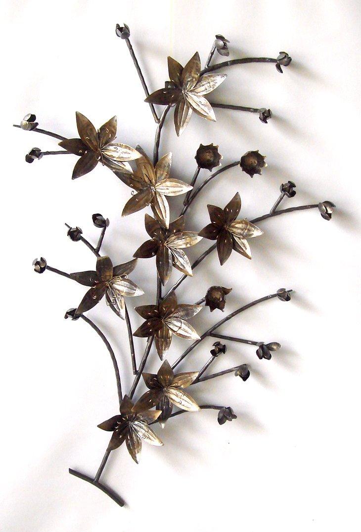 アイアン壁飾り ウォールアート 壁掛け 壁飾り 花/インテリア 壁掛け アート アートパネル リビング 玄関 プレゼント モダン 絵画 おしゃれ 飾る シンプル モダン アジアン アンティーク 5Lサイズ 巣ごもり