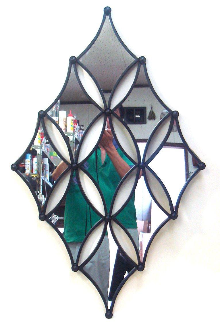 ミラー モダンテイスト ミラー(鏡) 壁飾り/インテリア 壁掛け アート アートパネル リビング 玄関 プレゼント モダン 絵画 おしゃれ 飾る シンプル モダン アジアン アンティーク 4Lサイズ 巣ごもり