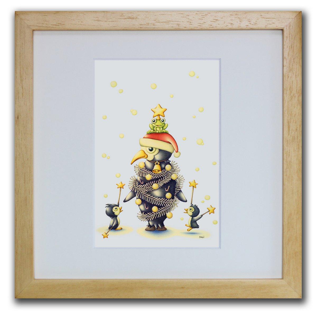 壁掛けアートは リビングや玄関におすすめのインテリア 絵画といえばルノワール ゴッホのひまわりといった名画が有名 かわいい壁飾りはお部屋を癒やしてくれそう プレゼントにも 色鉛筆画 版画 ゆうパケット ツリー ペンギン SHOji インテリア 壁掛け 額入り アートフレーム ポスター プレゼント リビング モダン 風景画 飾る 再販ご予約限定送料無料 アートパネル おしゃれ 人気の製品 アート 玄関 巣ごもり Sサイズ 油絵 額装込