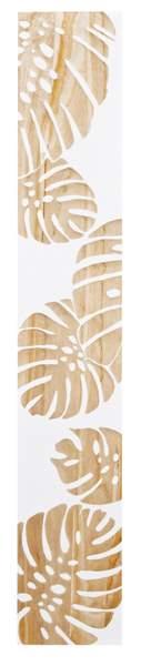 ウッド スカルプチャー アート モンステラ (ホワイト)/インテリア 壁掛け 額入り 額装込 風景画 油絵 ポスター アート アートパネル リビング 玄関 プレゼント モダン アートフレーム おしゃれ 飾る 4Lサイズ 巣ごもり
