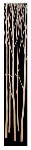 ウッド スカルプチャー アート ツリー (ブラック)/インテリア 壁掛け 額入り 額装込 風景画 油絵 ポスター アート アートパネル リビング 玄関 プレゼント モダン アートフレーム おしゃれ 飾る 4Lサイズ