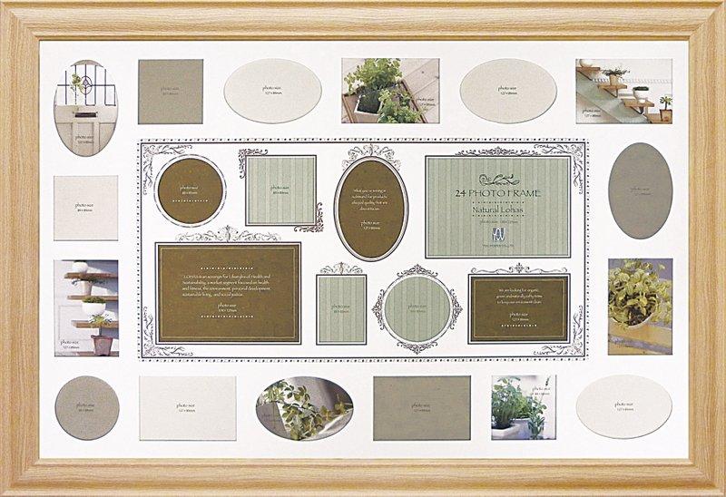 フォトフレーム ナチュラルロハス24フォトフレーム ナチュラル/インテリア 壁掛け 立てかけ 記念 写真 飾り ギフト プレゼント 出産祝い 結婚祝い 写真立て おしゃれ 飾る かわいい 4Lサイズ 巣ごもり