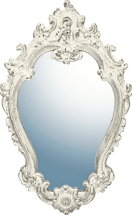 ミラー グレース アート ミラー アリストクラシー (アンティークホワイト)/鏡 壁掛け 卓上 手鏡 鏡台 収納 おしゃれ 飾る 美容 お化粧 顔 インテリア 新築祝い 改築祝い 5Lサイズ