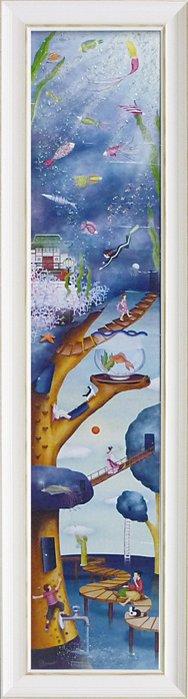 絵画 玄関 絵画 なかの まりの Water アートパネル tree/インテリア 壁掛け 額入り 額装込 風景画 油絵 ポスター アート アートパネル リビング 玄関 プレゼント モダン アートフレーム おしゃれ 飾る 4Lサイズ, 人気沸騰ブラドン:bd461a4d --- lawyerfindonline.com