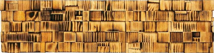 壁掛け プラデック ウッド クラフト ロング (バーンド パイン)/インテリア 壁掛け 額入り 額装込 風景画 油絵 ポスター アート アートパネル リビング 玄関 プレゼント モダン アートフレーム おしゃれ 飾る LLサイズ 巣ごもり