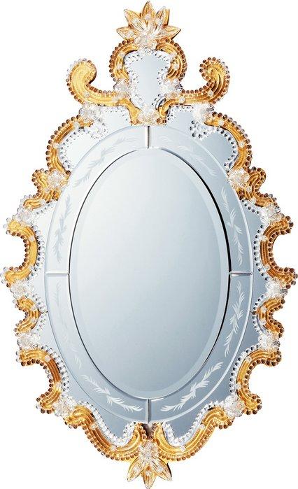 【ミラー】ムラーノ アート ミラー「モーディカ(ゴールド)」/鏡 壁掛け 卓上 手鏡 鏡台 収納 おしゃれ 美容 お化粧 顔 インテリア 新築祝い 改築祝い【L】