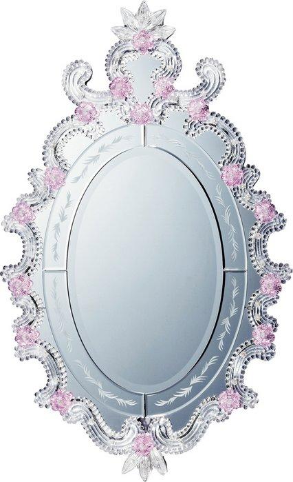 ミラー ムラーノ アート ミラー「モーディカ(シルバー)」/鏡 壁掛け 卓上 手鏡 鏡台 収納 おしゃれ 飾る 美容 お化粧 顔 インテリア 新築祝い 改築祝い 4Lサイズ 巣ごもり