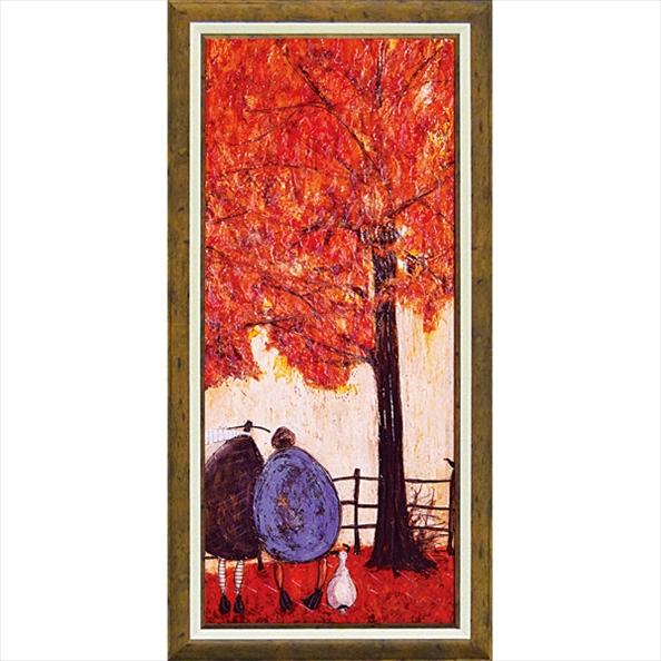 絵画 サム トフト「オータム」/額入り 額装込 風景画絵画・壁掛けアートは、リビングや玄関におすすめのインテリア。かわいい壁飾りはお部屋を癒やしてくれそう。バレンタイン チョコの代わりのプレゼントにも。 アートフレーム おしゃれ 飾る 4Lサイズ