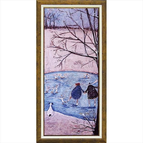 絵画 サム トフト「ウインター」/額入り 額装込 風景画絵画・壁掛けアートは、リビングや玄関におすすめのインテリア。かわいい壁飾りはお部屋を癒やしてくれそう。バレンタイン チョコの代わりのプレゼントにも。 アートフレーム おしゃれ 飾る 4Lサイズ