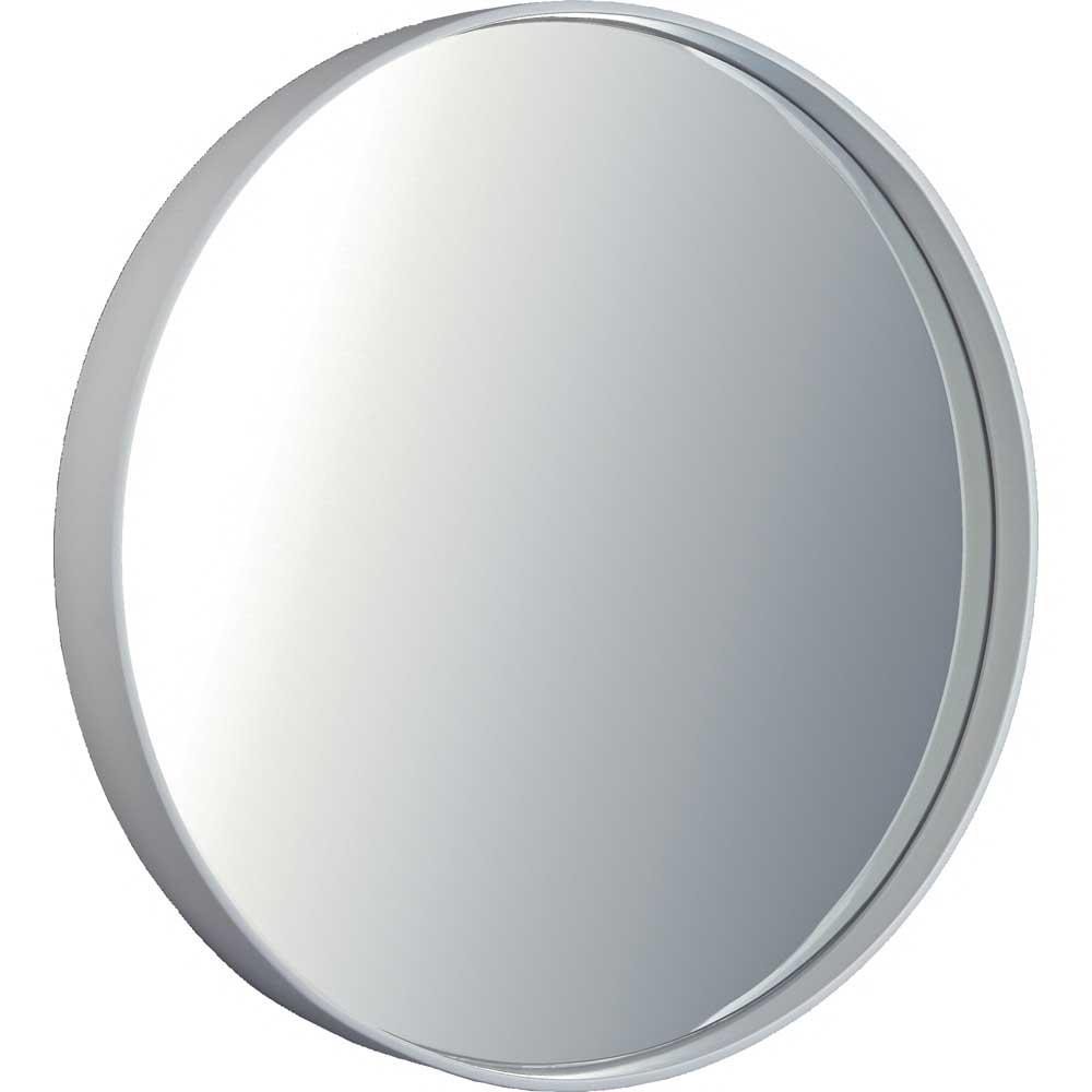 ミラー スリムライン ミラー「ラウンド(ホワイト)」/鏡 壁掛け 卓上 手鏡 鏡台 収納 おしゃれ 飾る 美容 お化粧 顔 インテリア 新築祝い 改築祝い LLサイズ 巣ごもり