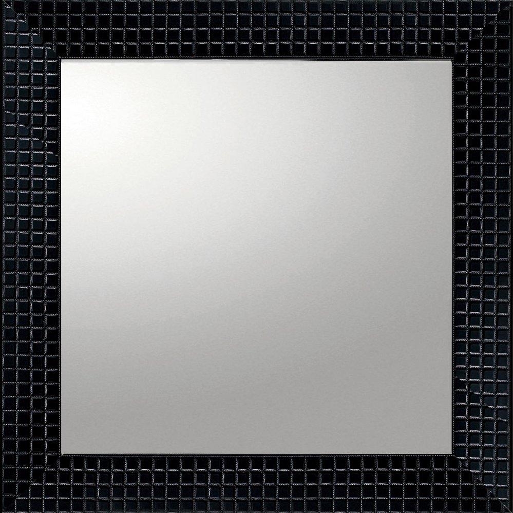 ミラー デコラティブ 大型ミラー タイル「正方形(ブラック)」/鏡 壁掛け 卓上 手鏡 鏡台 収納 おしゃれ 飾る 美容 お化粧 顔 インテリア 新築祝い 改築祝い 3Lサイズ