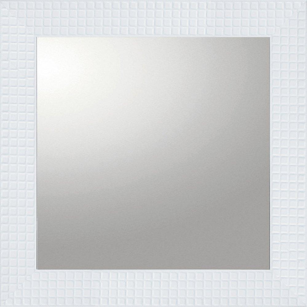 ミラー デコラティブ 大型ミラー タイル「正方形(ホワイト)」/鏡 壁掛け 卓上 手鏡 鏡台 収納 おしゃれ 美容 お化粧 顔 インテリア 新築祝い 改築祝い 3Lサイズ
